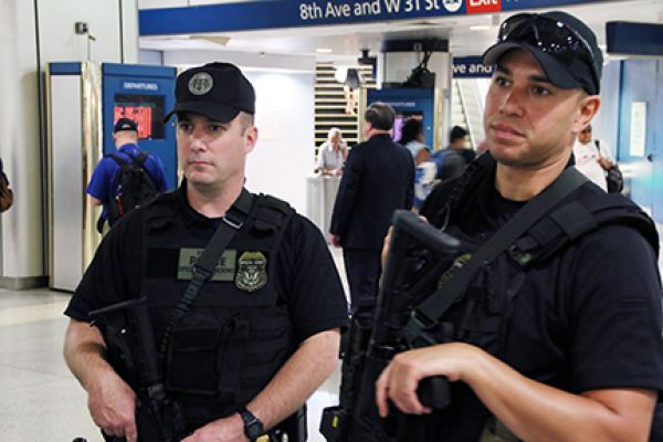 APD SOU Officers at New York Penn Station