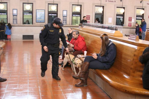 APD K-9 Officer at New Haven Station